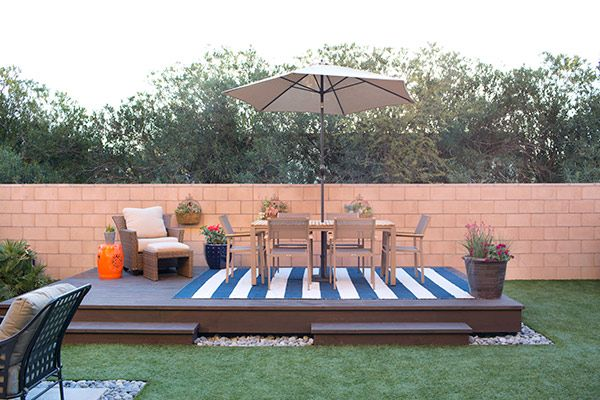 how to build a floating deck the home depot - Deck Designs Home Depot