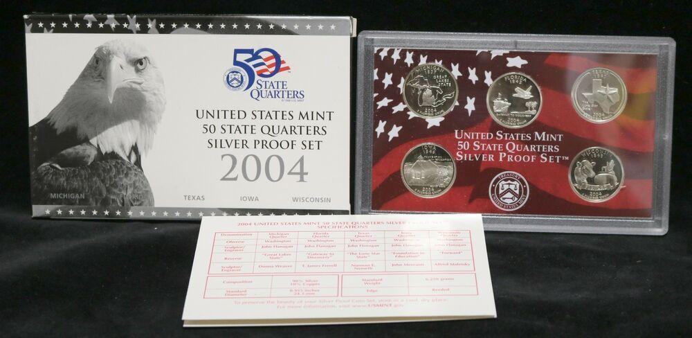 2004 SILVER STATE QUARTER PROOF SET  no box or COA