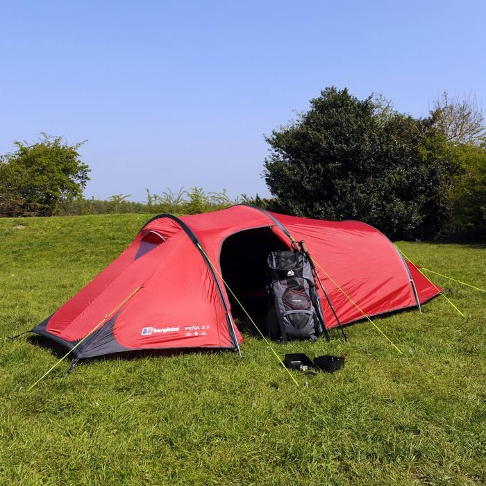 Berghaus Peak 3.3 3 Man Tent | Tent, Cool tents, 3 man tent