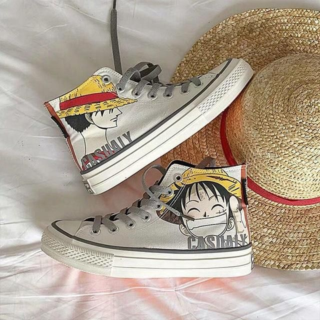 Photo of Anime Naruto Canvas Shoes Sasuke Men's Vulcanized Shoes Kakashi Sneakers Gaara Madara Pain Cosplay School Outdoor Casual Shoes – As shown-200004890 / 38