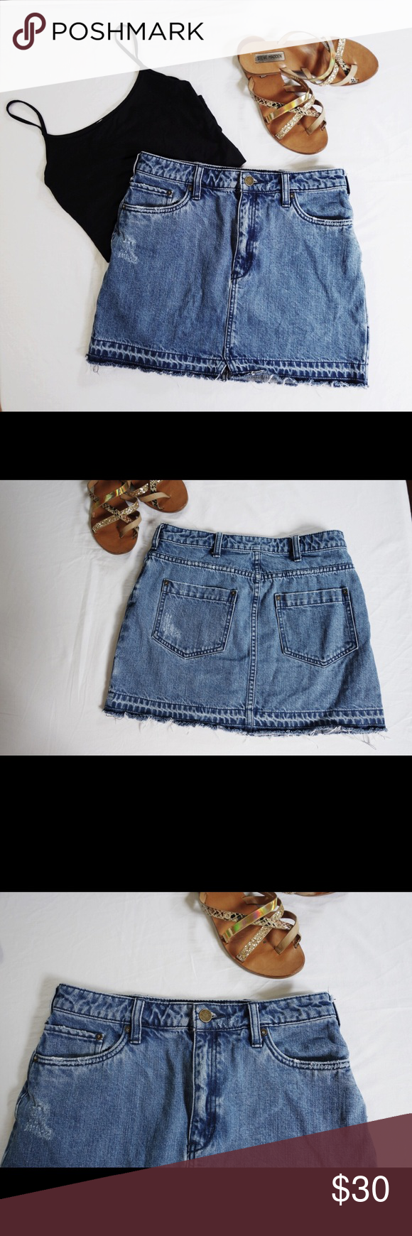 f1d146f437316 Free People Step Up Denim Mini Skirt Adorable