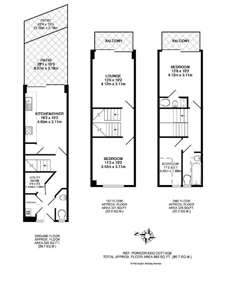 Small Powder Room Floor Plans | Powderkeg Cottage provides ...