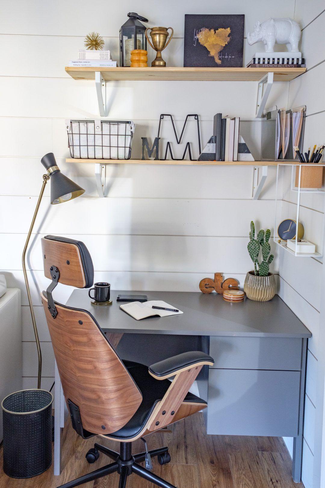 Living Room Office Corner The Learner Observer Desk In Living Room Living Room Office Living Room Decor Rustic
