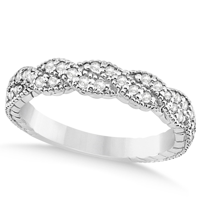 Diamond Braided Wedding Band Platinum 0.23ct in 2020