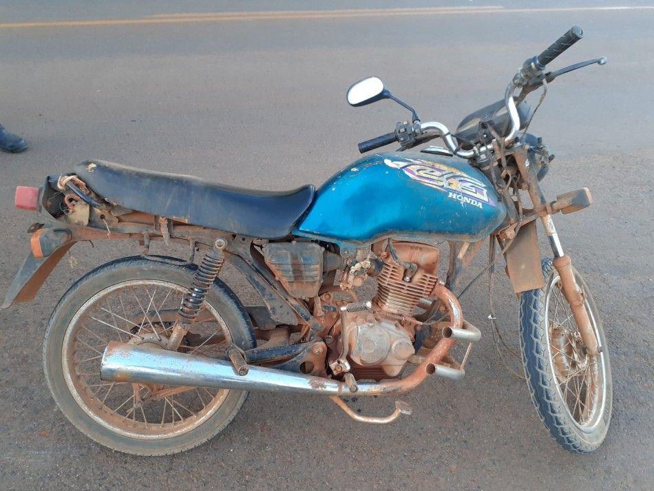 Motocicleta adulterada é apreendida durante blitz na