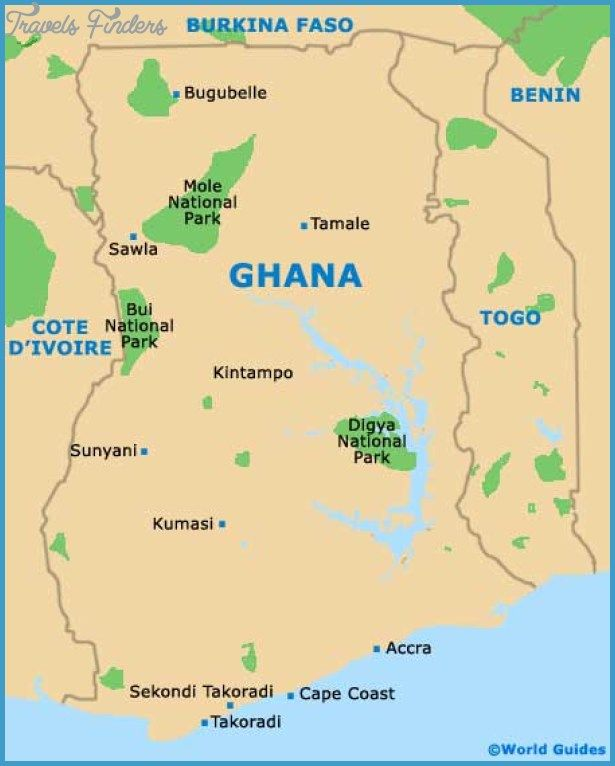 Ghana Map Tourist Attractions httptravelsfinderscomghanamap