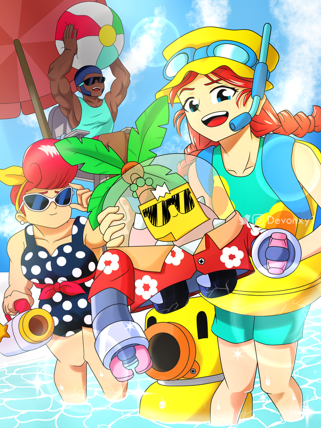 Summer Time ☀️🌴 Brawlstars in 2020 Star art, Anime