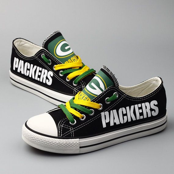 96d8792ea53f Green Bay Packers Sneakers shoes Canvas Shoes by Maromeshoes