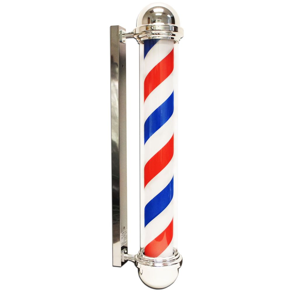 FRITHJILL 36 Rotating Barber Pole Light,Attractive Hair Salon Open Sign Spinning Strips, 35.43 x 8.66 x 4.72