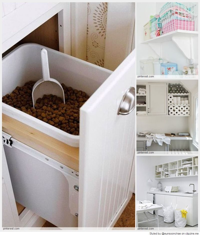 Coolest Laundry Room Ideas Dog Food Bin Dog Rooms Built In Cabinets