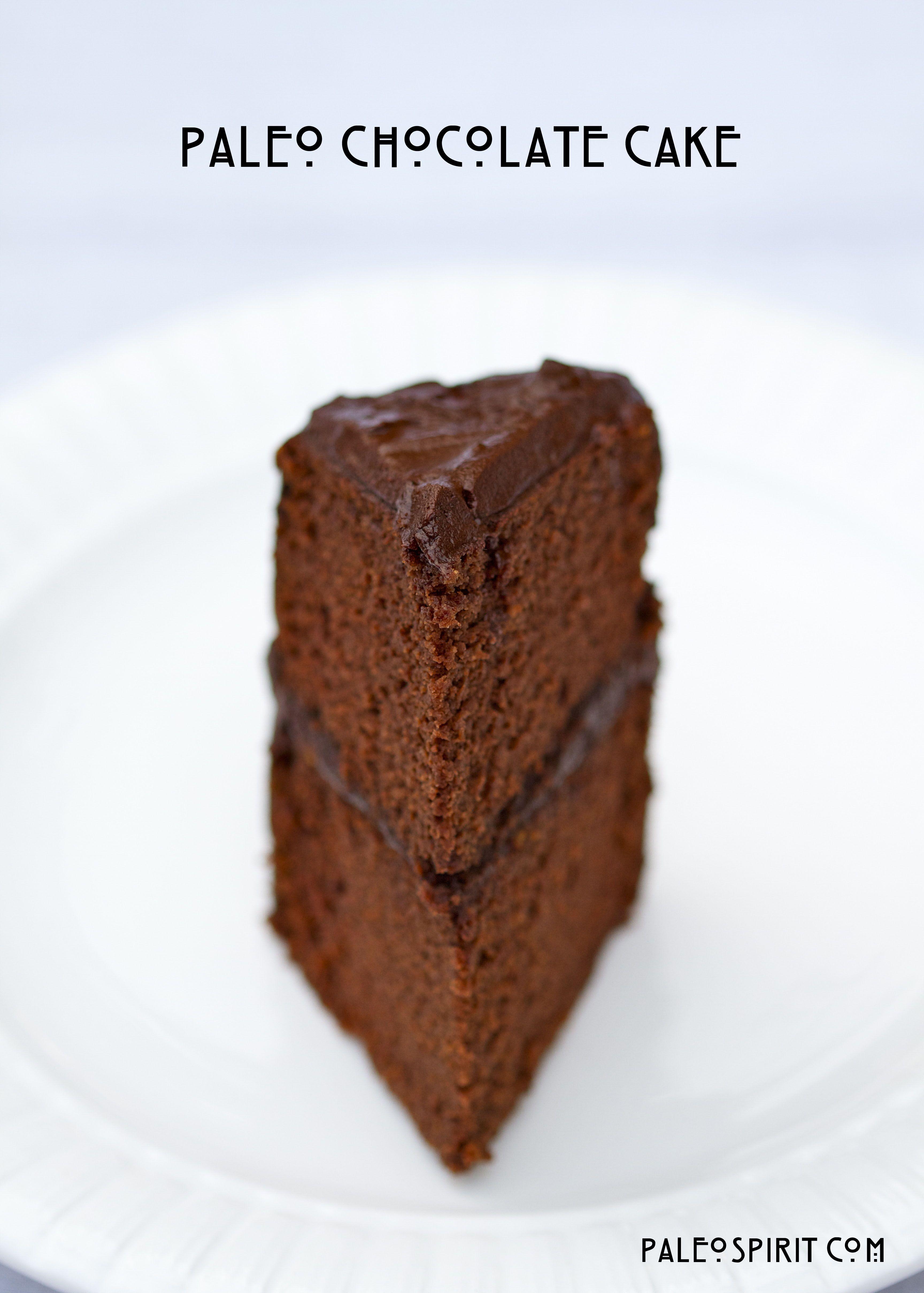 PaleoSpirit:: Slice of Paleo Chocolate Cake