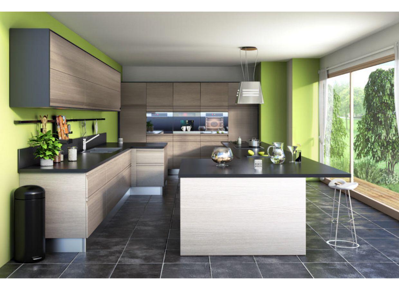 Cuisine urban cuisine lapeyre couleur int ressante des Meuble cuisine vert pomme