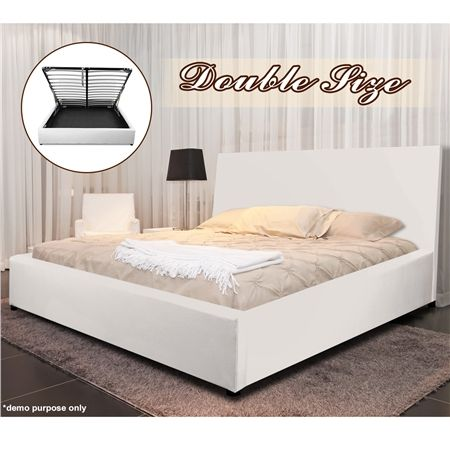 White Gas Lift Storage Bed Double At Crazys Au