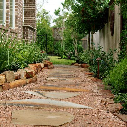 Small Back Yard Landscaping Ideas - path and grasses along the side ...