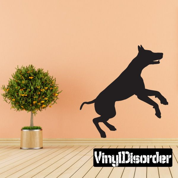 Doberman Wall Decal - Vinyl Decal - Car Decal - 042