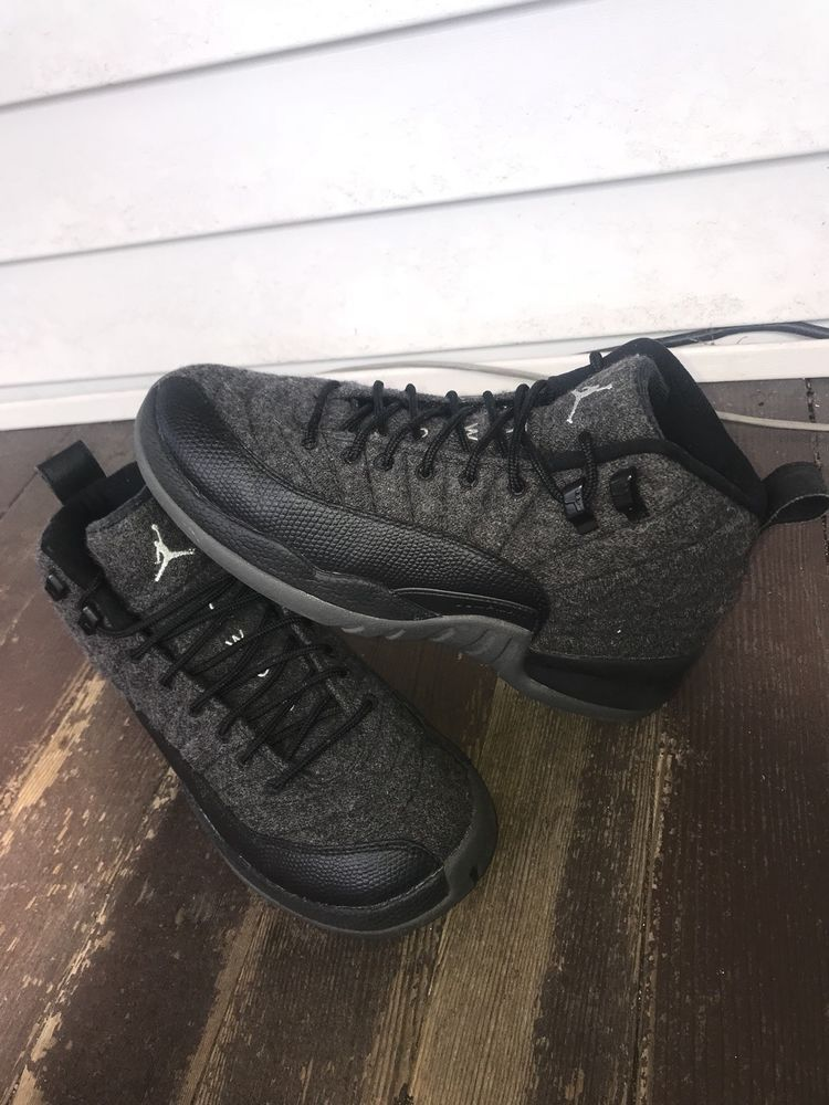 60b3343d5f1 Nike Air Jordan 12 Retro wool Size 6.5 Dark Grey 852626-003  fashion   clothing  shoes  accessories  mensshoes  athleticshoes (ebay link)