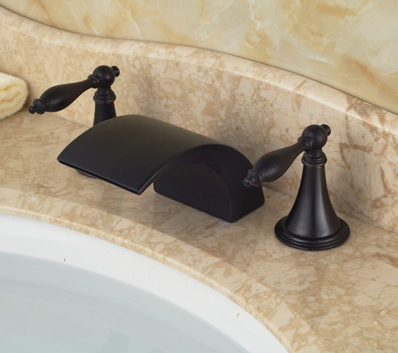 Luxury Bathroom Knobs rozin® luxury waterfall dual knobs sink faucet widespread basin