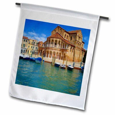 Photo of 3dRose Eiffel Tower Paris Polyester 18 x 12 in. Garden Flag Theme: Venice Italy