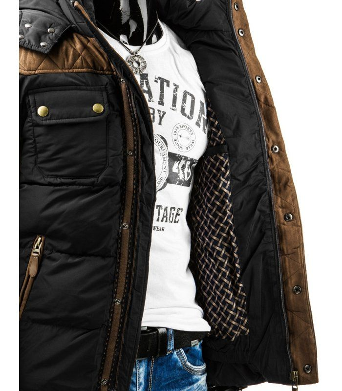 Pánska čierna bunda  303f504279b
