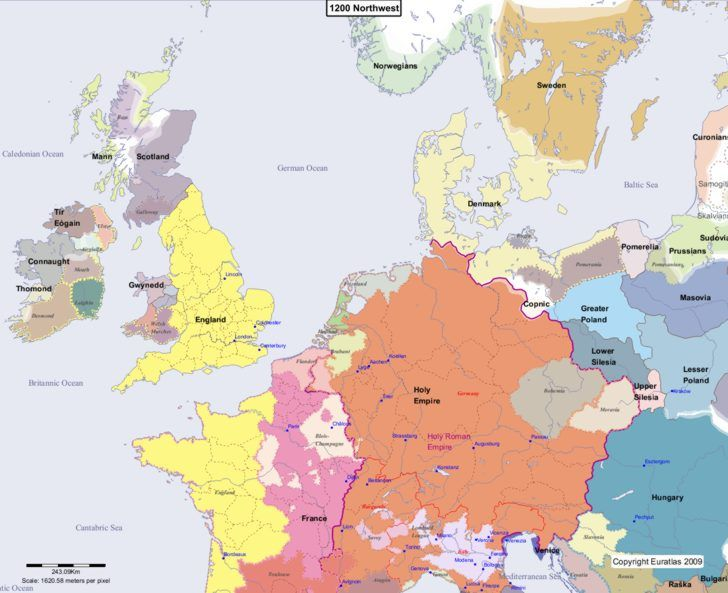 Map showing europe 1200 northwest gazetteer gallery pinterest online historical atlas showing a map of europe at the end of each century from year 1 to year map of europe 1100 northwest gumiabroncs Choice Image