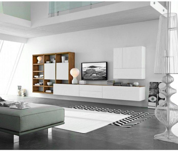 Livitalia Wohnwand C96B Wohnzimmer, Wohnzimmer sideboard und - moderne schranke fur wohnzimmer