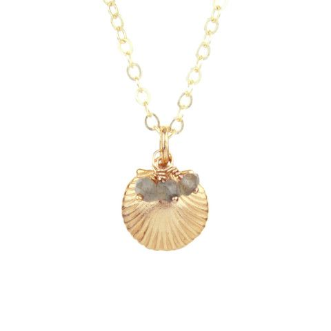 Get this clamshell cluster necklace from Sunday Girl, perfect for when you hit up the beach this summer