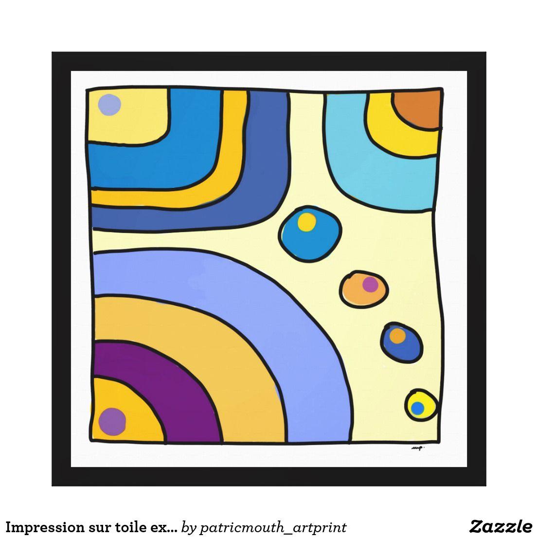 """Impression sur toile extra grand, """"Bubble Gum Art"""""""