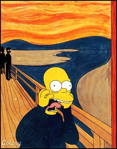 7 Famous Works of Art Remade, Simpsons-Style | Yellow art, I am ...