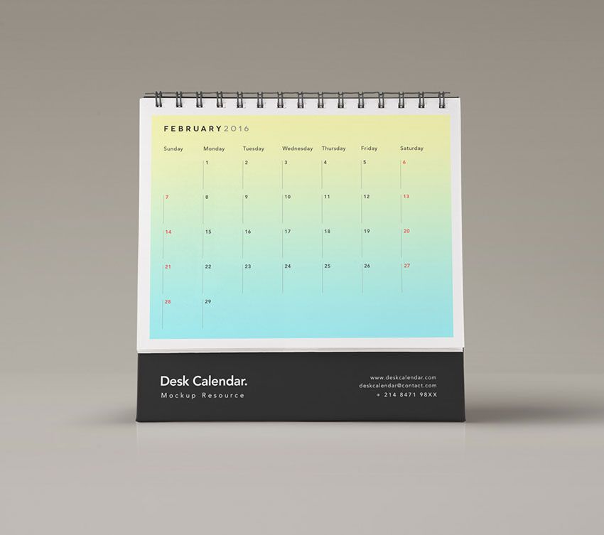 Calendar Design Template Psd : Desk calendar psd mockup mockups templates for