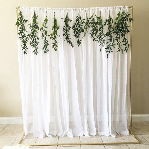 White Tulle Backdrop Curtains Wedding Backdrop Bridal Etsy Diy