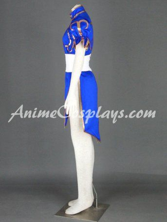 Street Fighter Chun-Li Blue cosplay costume www.animecosplays.com
