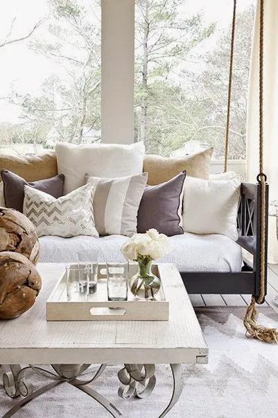 9 Pretty Porches Cococozy Home Porch Swing Interior Design