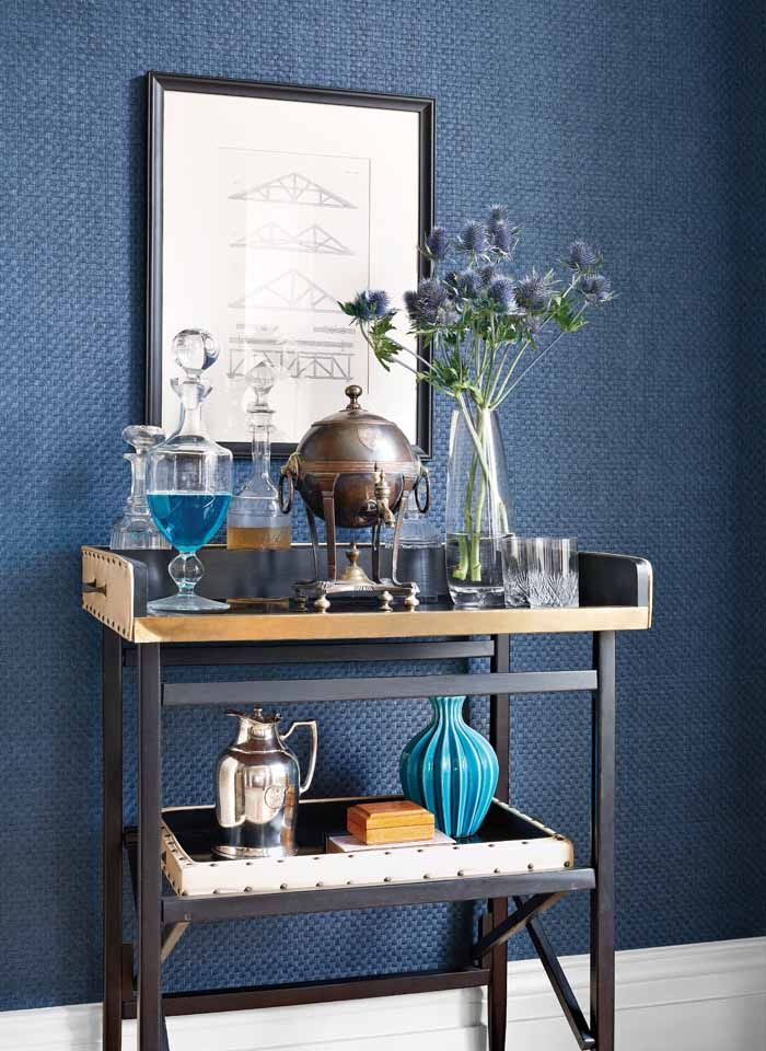 Sachon Basket #wallpaper in #navy from the Menswear Resource ...