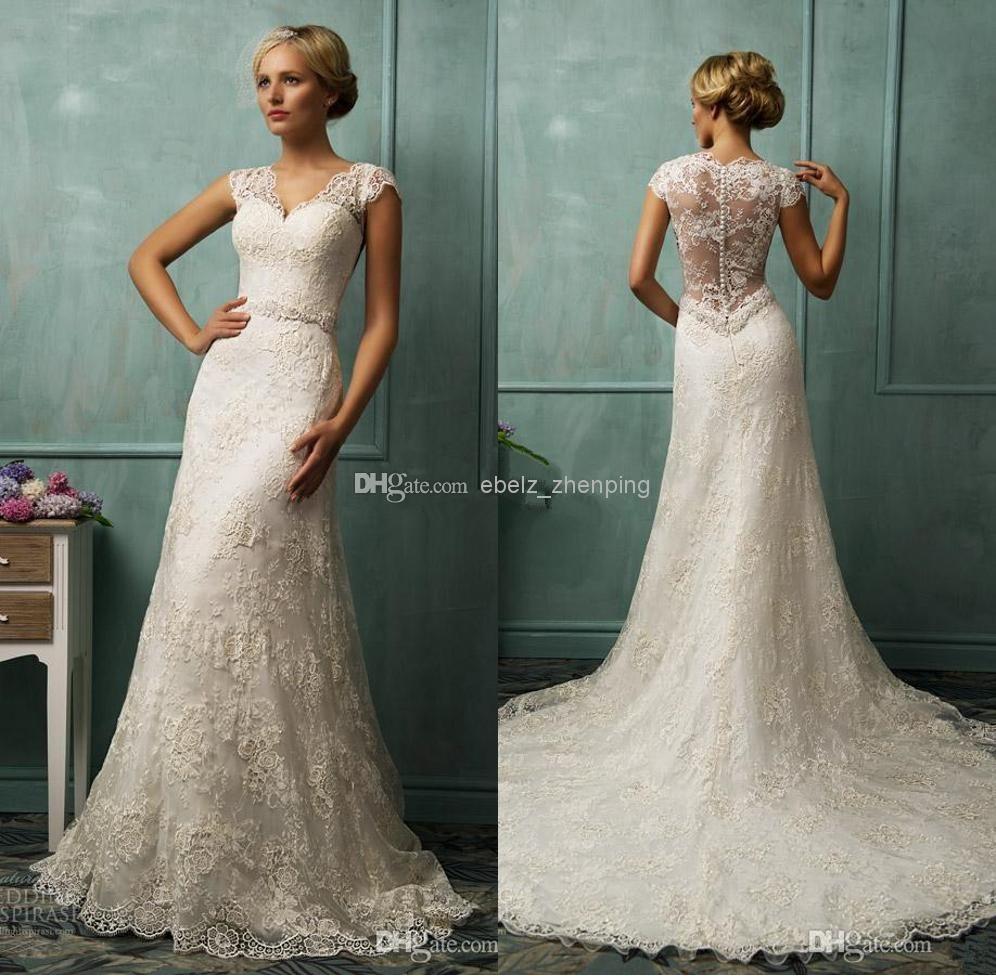 vintage wedding dresses bit v neck short aline wedding dresses