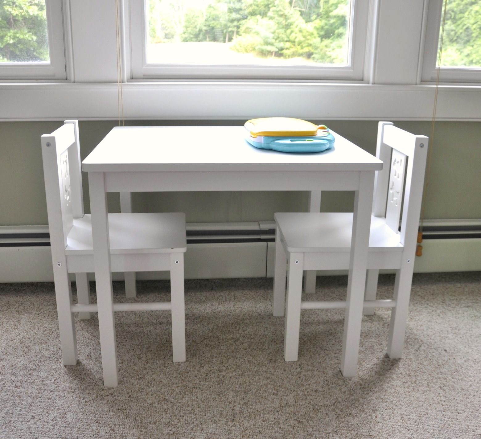 Ikea Expedit Playroom Storage Reveal Kids table, chairs
