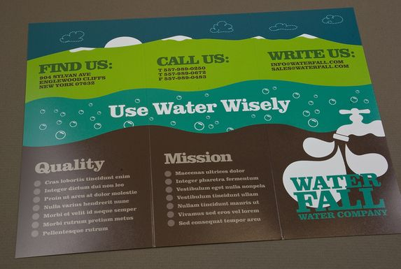 Graphic Water Company Brochure Template by Kristina Miletieva - now hiring flyer template
