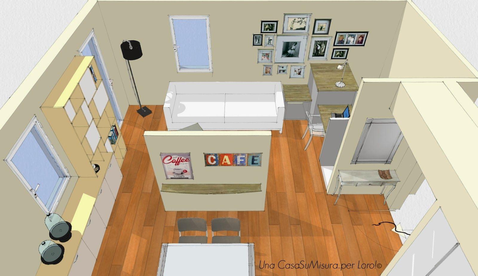 pareti divisorie cucina soggiorno - Cerca con Google | pareti ...
