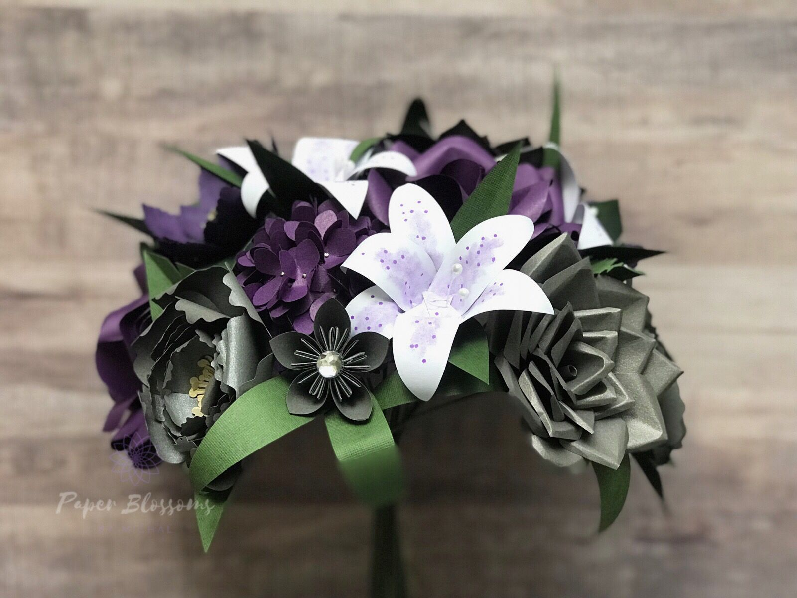 Handmade In Kalamazoo Mi By Paper Blossoms By Michal Paper Flowers Bridal Bouquet Wedding Flowers