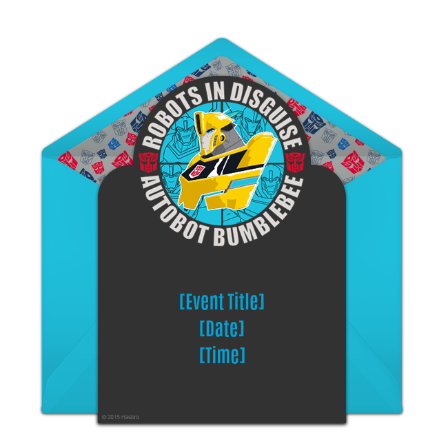Free Robots In Disguise Badge Invitations Transformer Birthday - Party invitation template: transformers birthday party invitations template
