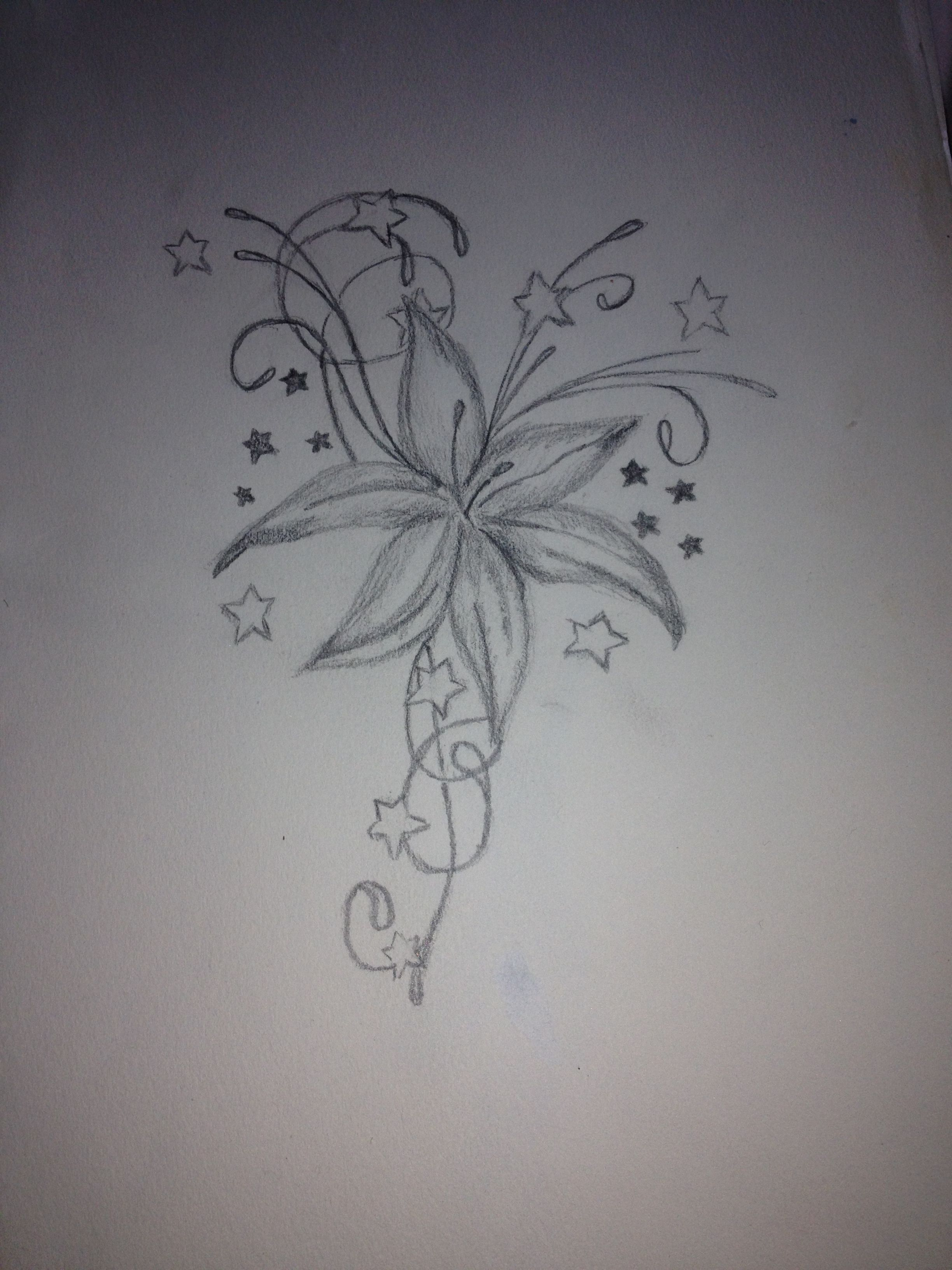 Pretty Flower Drawing Tattoos Pinterest Sketches And Drawings