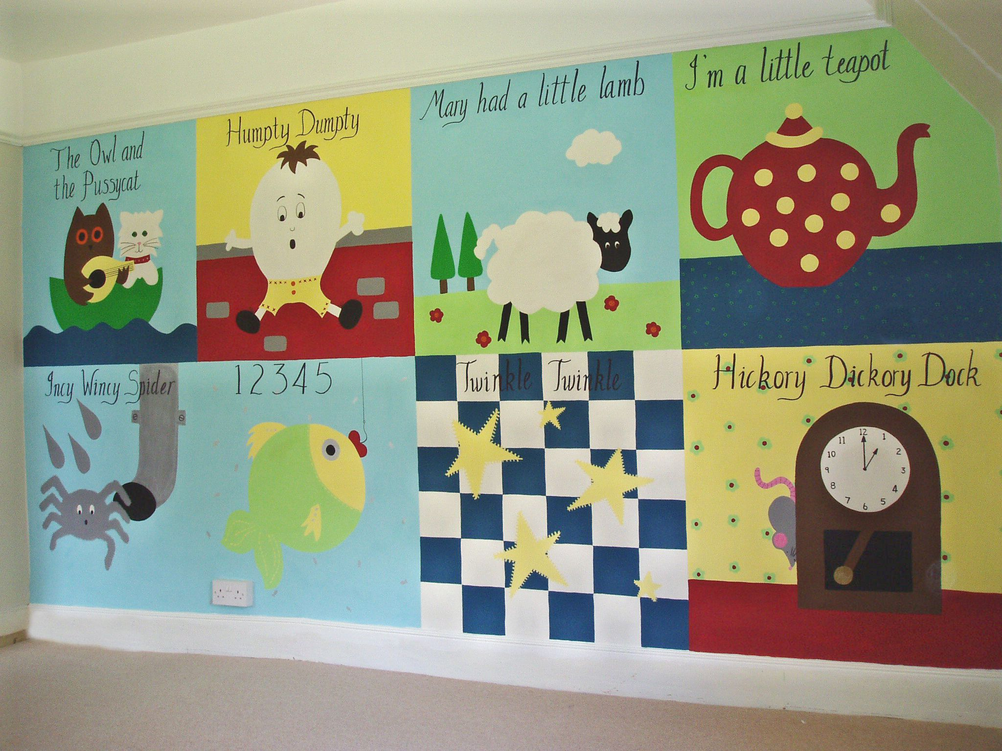 Nursery Rhyme Mural For A New Born Baby Murals For Kids