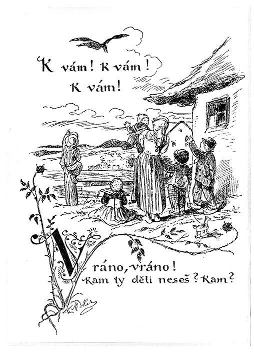 Mikoláš Aleš: Vráno, vráno http://www.herbia.cz/products-page/pohlednice/umelecke/page/16/