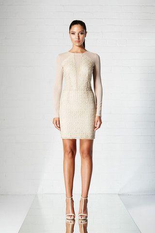 LUXE SHORT DRESS - GOLD