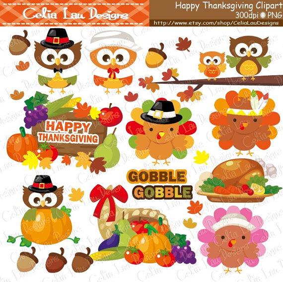 Gobble Thanksgiving Clipart Turkey Clipart Pumpkin Etsy Clip Art Fall Planner Stickers Pumpkin Clipart