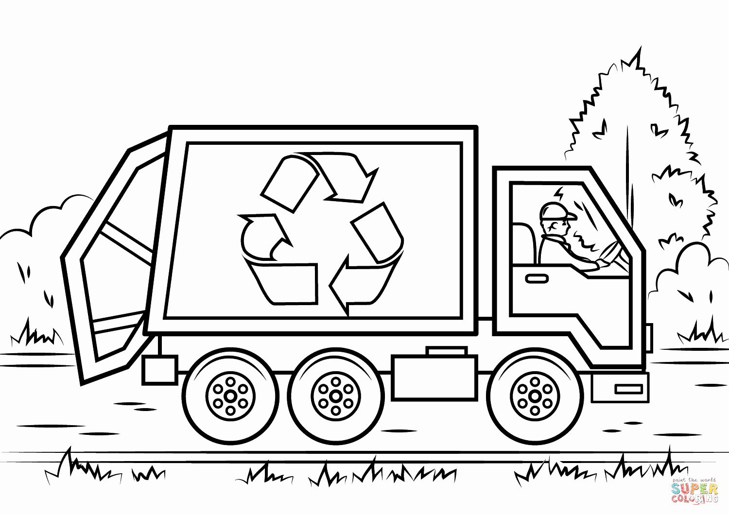 Garbage Truck Coloring Page New Recycling Truck Coloring Page Monster Truck Coloring Pages Truck Coloring Pages Truck Coloring Page