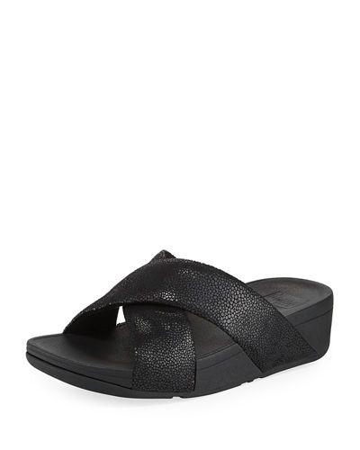 25c8a67c2 Swoop Suede Slide Sandal Fitflop