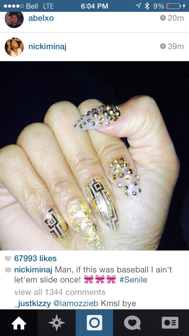 Nicki minaj nails long stiletto   nails.   Pinterest   Nicki minaj