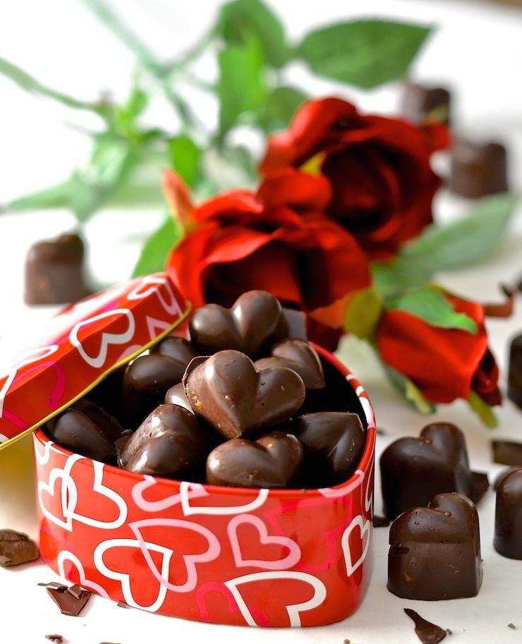 chocolate caramel hearts