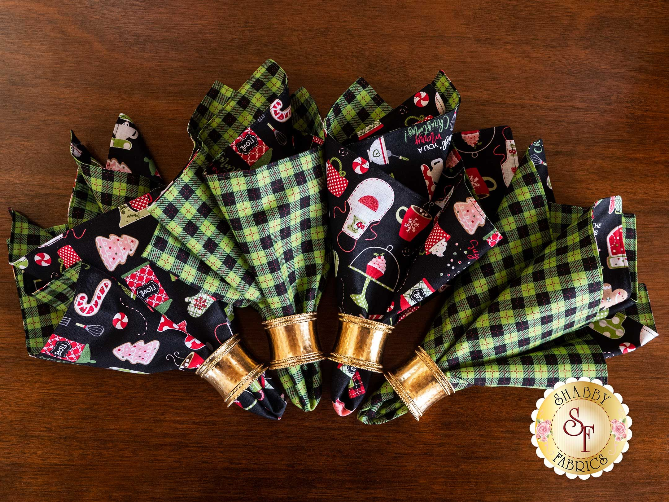 Cloth Napkins Kit - We Whisk You A Merry Christmas - Makes 4: VIDEO DEMONSTRATION PROJECT. Follow Along with Jen in our #clothnapkins