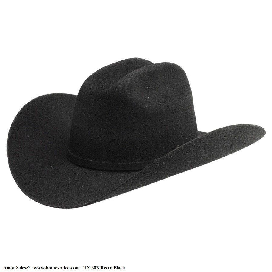 Texana TX20X Recto Black Western Hats ebd6f1cc5df